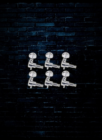 Grover 205 Series Mini Rotomatics 6-In-Line Guitar Tuning Keys - Chrome