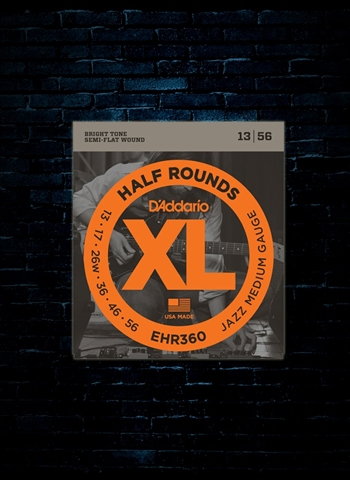 D'Addario EHR360 XL Half Rounds Electric Strings - Jazz Medium (13-56)