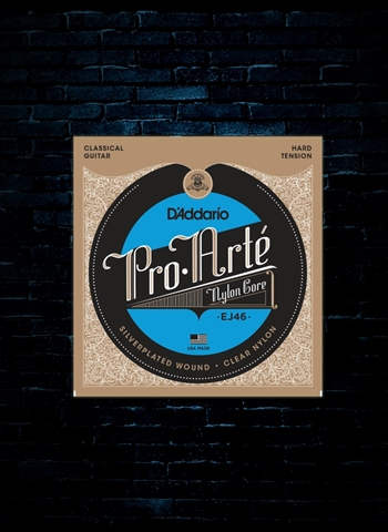 D'Addario EJ46 Pro-Arte Nylon Core Classical Strings - Hard (29-44)
