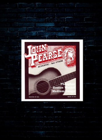 John Pearse Phosphor Bronze Acoustic Strings - Medium (13-56)