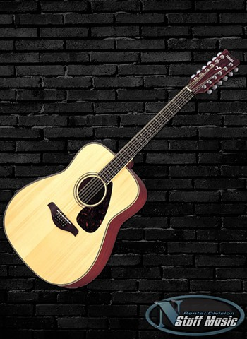 Yamaha FG720S12 Solid Top 12-String Acoustic Guitar - Rental