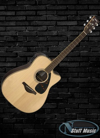 Yamaha FGX730SC Solid Top Acoustic Guitar - Rental