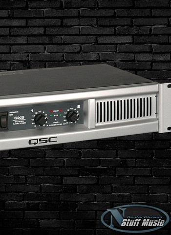 QSC GX5 - 500 Watt Stereo Power Amplifier - Rental