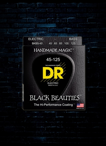 DR BKB5-45 - K3 Black Beauties Bass Strings - 5-String Medium (45-125)