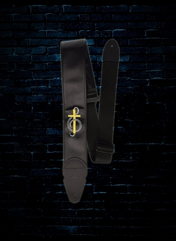 "LM Products PS-329C - 3"" PS Slider Embroidered Guitar Strap - Cross"