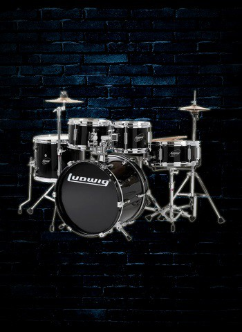 Ludwig LJR106 Junior Series 5-Piece Drum Set - Black