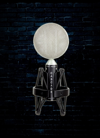Cascade FAT HEAD Short Ribbon Microphone - Black Body/Silver Grill