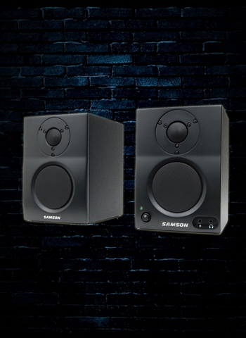 "Samson MediaOne BT3 - 30 Watt 1x3"" Active Studio Monitors (Pair) - Black"