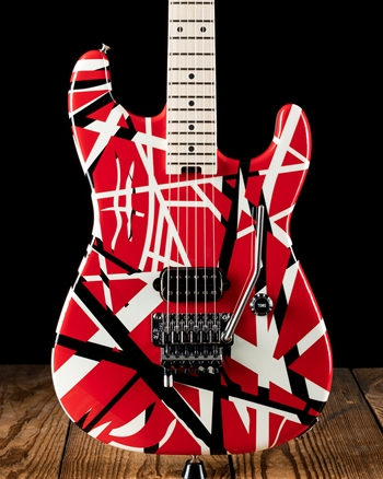 EVH Striped Series - Red with Black Stripes