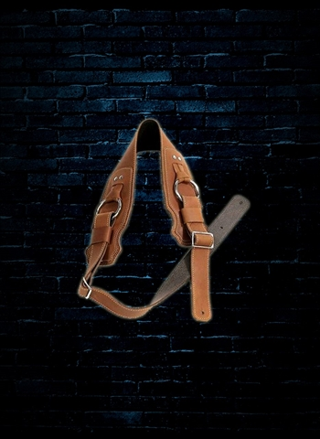 "Franklin BR-CG-N - 3.5"" Glove Leather Ring Bass Strap - Cognac"