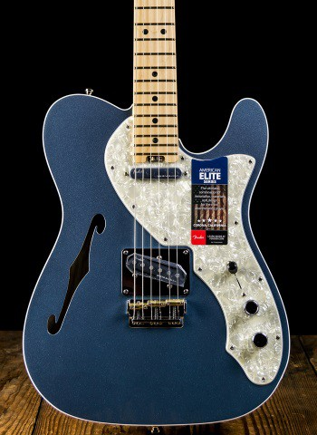 American Elite Telecaster Thinline - Mystic Ice Blue