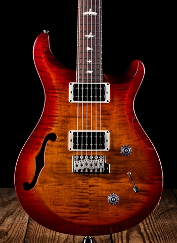 PRS S2 Custom 22 Semi-Hollow - Dark Cherry Sunburst