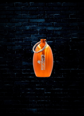 Earasers Waterproof Keychain Earplug Carrying Case - Orange