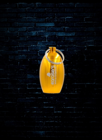 Earasers Waterproof Keychain Earplug Carrying Case - Gold