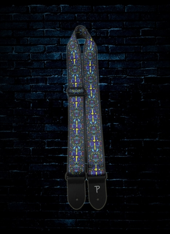 "Perri's LPCP-6841 - 2"" Praise Collection Polyester Guitar Strap - Stained Glass"
