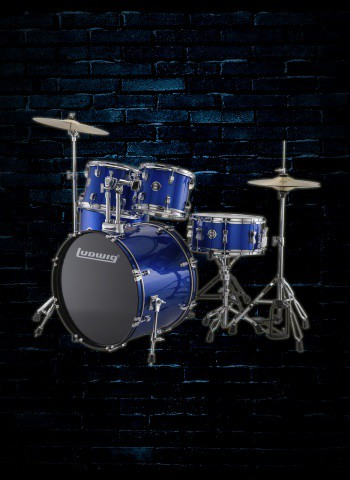Ludwig LC175 Accent Series 5-Piece Drum Set - Blue Foil