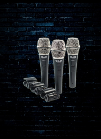 CAD D32X3 - D32 Supercardioid Dynamic Vocal Microphone (3 Pack)