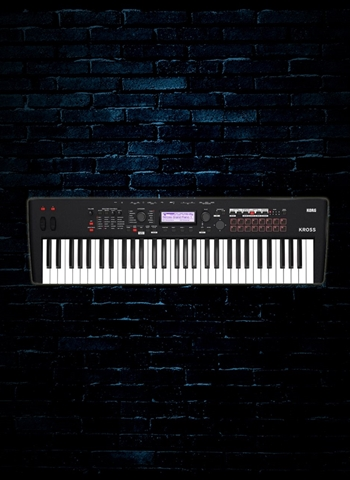 Korg KROSS 2 - 61-Key Performance Synthesizer Workstation - Black
