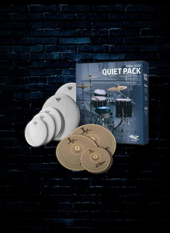 Zildjian LV468RH Low Volume Quiet Cymbal and Drumheads Pack
