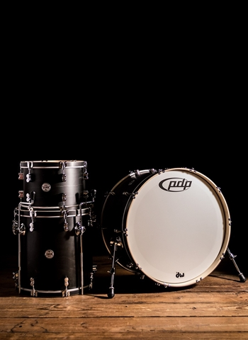 PDP PDCC2413ES - 3-Piece Concept Maple Drum Set - Ebony Stain
