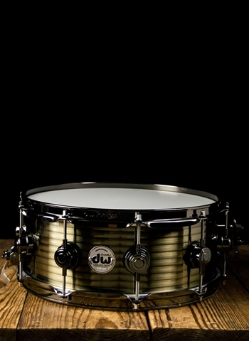 "DW 5.5""x14"" Collector's Series Steel Snare Drum - Vintage Steel"