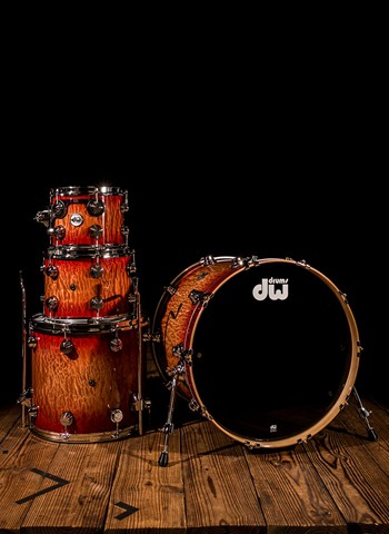 Drum Workshop Collector's Series 4-Piece Drum Set - Red to Natural Burst