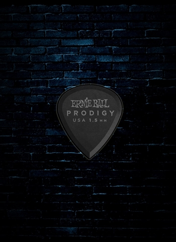Ernie Ball 1.5mm Mini Prodigy Picks (6 Pack) - Black