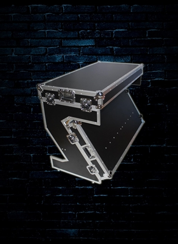 ProX Portable Z-Style Dj Table Flight Case with Handles and Wheels