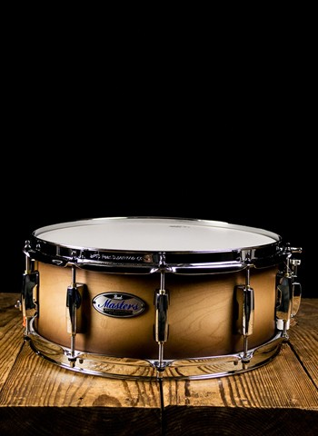 "Pearl MCT1455S/C - 5.5""x14"" Masters Maple Complete Snare Drum - Satin Natural Burst"