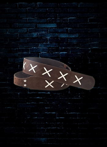 Right On Special Series Gilmour Guitar Strap - Brown