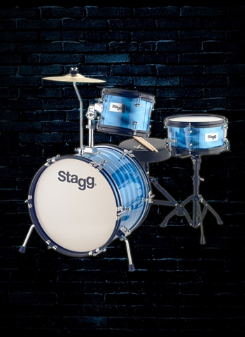 Stagg 3-Piece Junior Drum Set - Blue