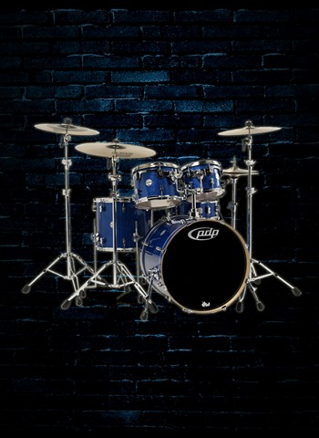 PDP PDCM2215 - Concept Maple 5-Piece Drum Set - Blue Sparkle