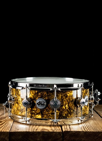 "DW 5.5""x14"" Collector's Series Snare Drum - Gold Abalone"