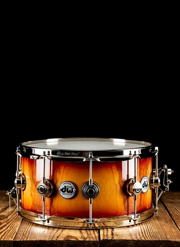 "DW 6.5""x14"" Collectors Pure Almond Snare Drum - Toasted Almond Burst"