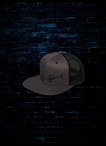 Gibson Trucker Snapback Hat - Charcoal