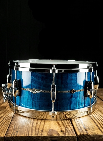 "Tama TMS1465S - 6.5""x14"" STAR Maple Snare Drum - Ocean Blue Curly Maple"