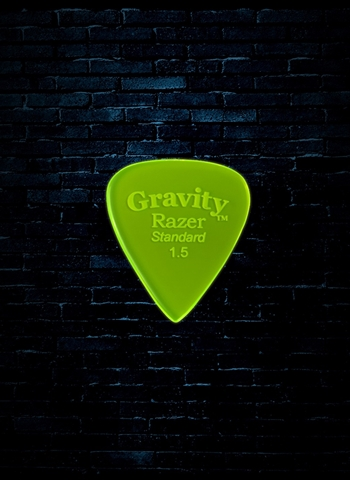 Gravity 1.5mm Razer Shape Standard Guitar Pick - Fluorescent Green