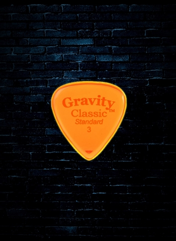 Gravity 3mm Classic Shape Standard Guitar Pick - Orange