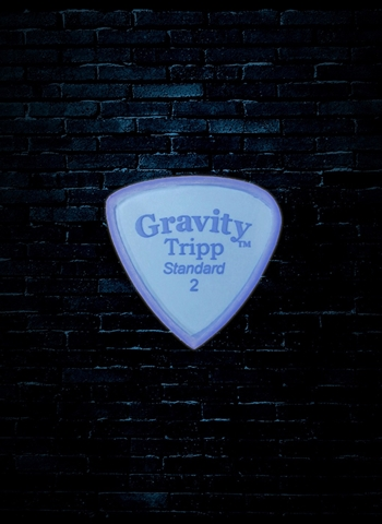 Gravity 2mm Tripp Shape Standard Guitar Pick - Blue