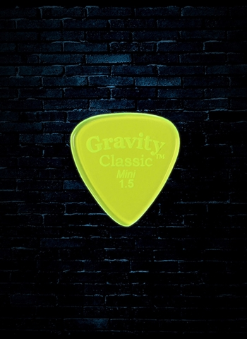Gravity 1.5mm Classic Shape Mini Guitar Pick - Fluorescent Green
