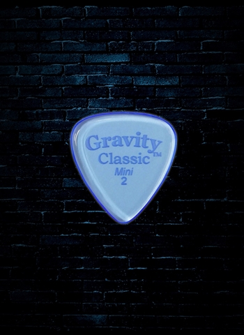 Gravity 2mm Classic Shape Mini Guitar Pick - Blue