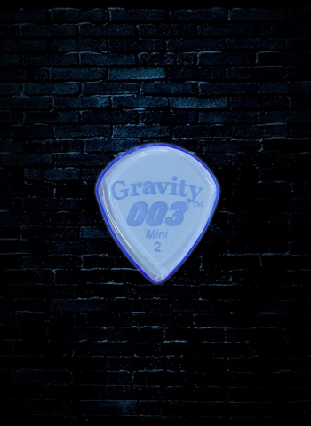 Gravity 2mm 003 Shape Mini Guitar Pick - Blue