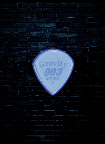 Gravity 2mm 003 Shape Big Mini Guitar Pick - Blue