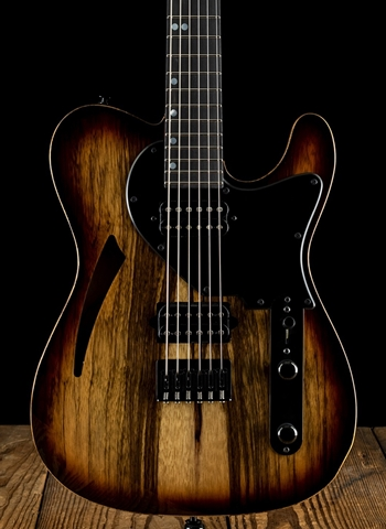 Suhr Classic T Custom - Black Limba/Roasted Swamp Ash - Brown Burst