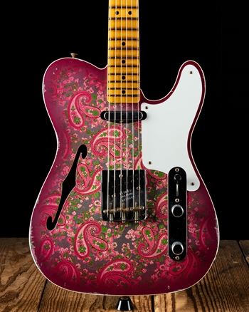 Fender Custom Shop Limited Edition Double Esquire Relic Telecaster - Pink Paisley