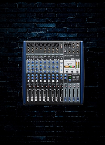 PreSonus StudioLive AR12c - 12-Channel USB-C Analog Recording Mixer & Audio Interface