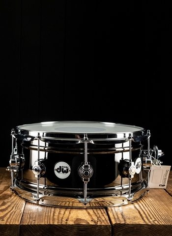 "DW DDSD6514BNCR - 6.5""x14"" Design Series Snare Drum - Black Nickel Over Brass"