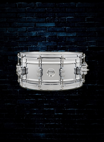 "PDP 6.5""x14"" Concept Metal Snare Drum - Chrome Over Steel"
