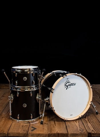 Gretsch GB-E403 Brooklyn Series 3-Piece Drum Set - Satin Black Metallic