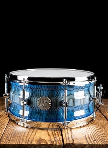 "HHG 7""x14"" Contoured Stave Snare Drum - High Gloss Blue Burst"